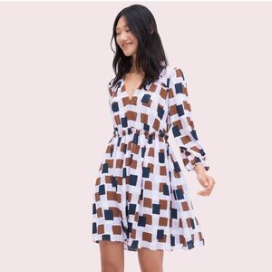 Kate Spade Geo Squares Mini Dress